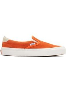 Vans Orange Suede OG 59 LX Slip-On Sneakers