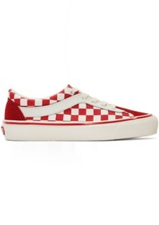 Vans Red & White Checkerboard Bold NI Sneakers