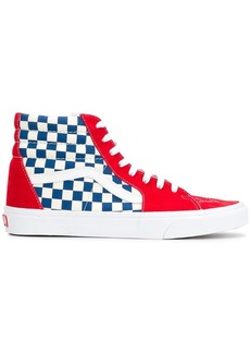 Vans SK8-Hi panelled checkered sneakers