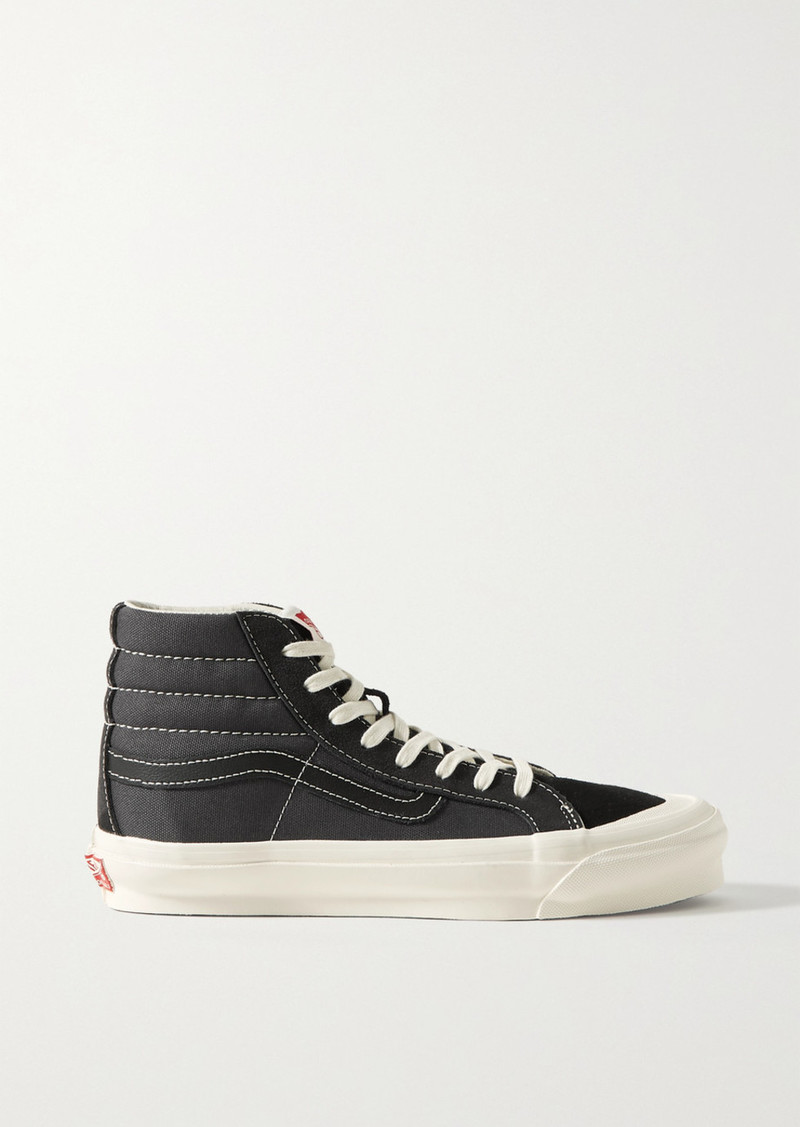 Vans Ua Og Sk8-hi Lx Canvas, Suede And Leather Sneakers