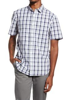 Vans Action Slim Fit Plaid Short Sleeve Button-Up Shirt