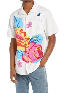 Vans Anaheim Floral Short Sleeve Button-Up Cotton & Linen Camp Shirt