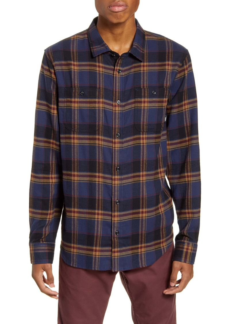 Vans Banfield III Plaid Button-Up Flannel Shirt