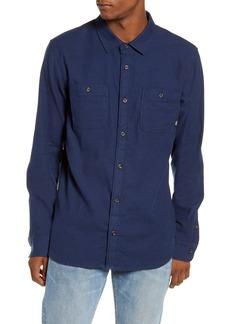 Vans Banfield III Tailored Fit Blue Button-Up Shirt