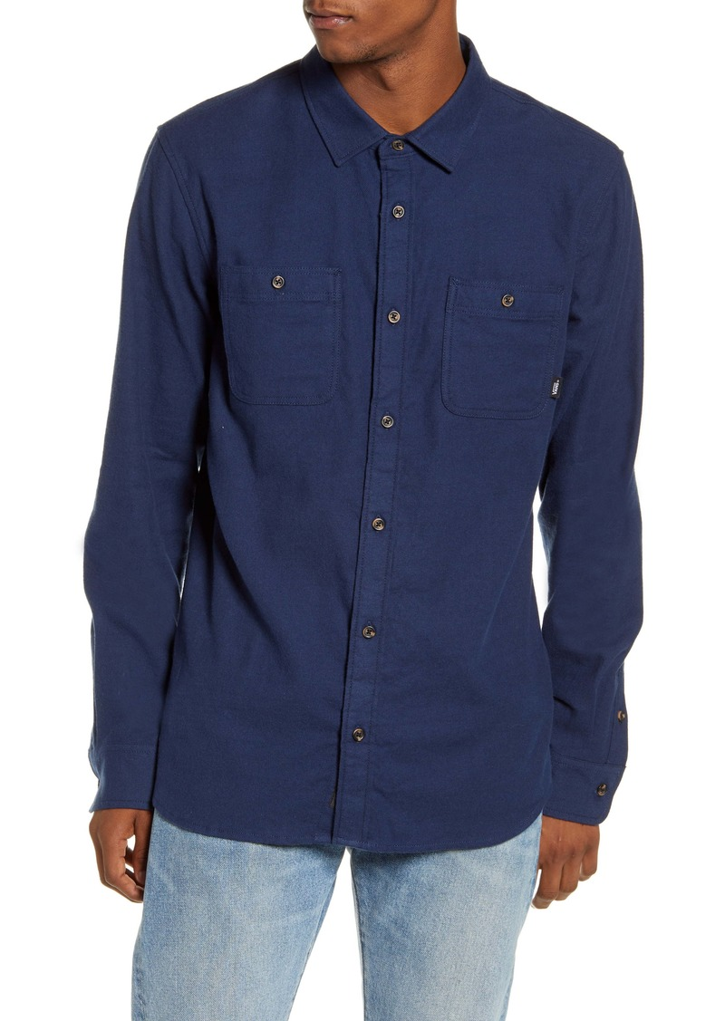 Vans Banfield III Tailored Fit Blue Button-Up Shirt