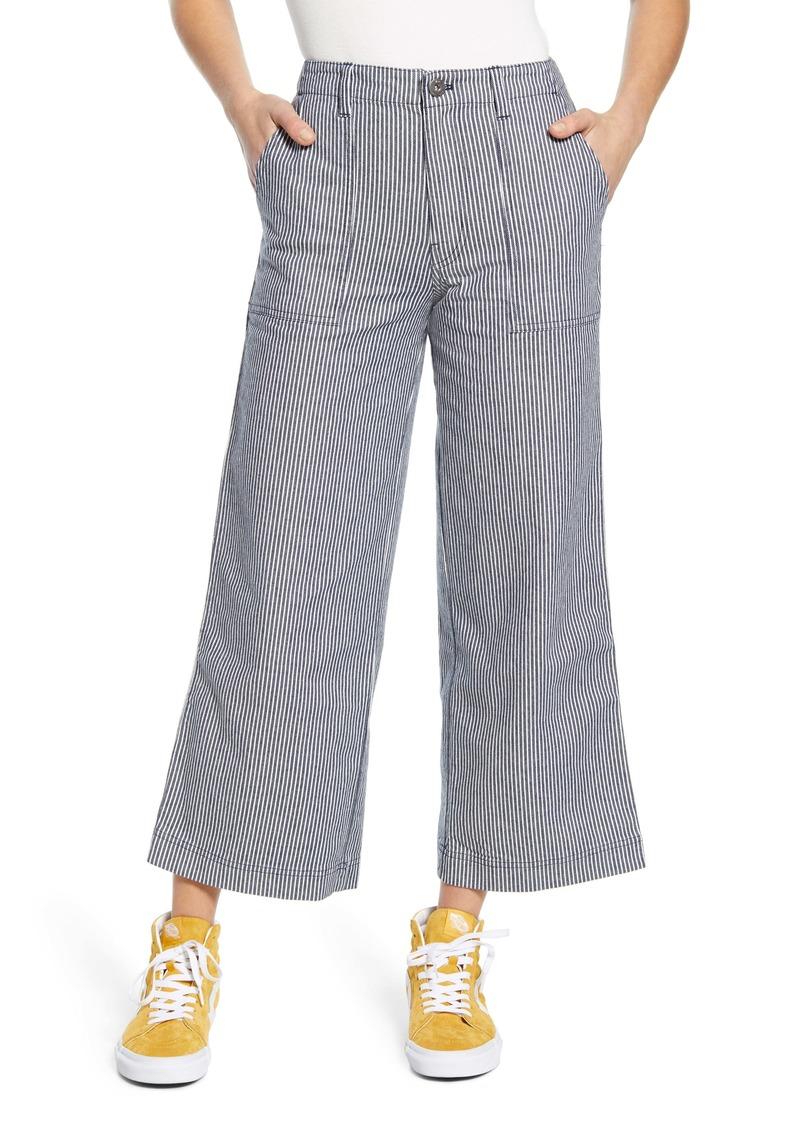 Vans Barrecks Wide Leg High Waist Stripe Crop Pants