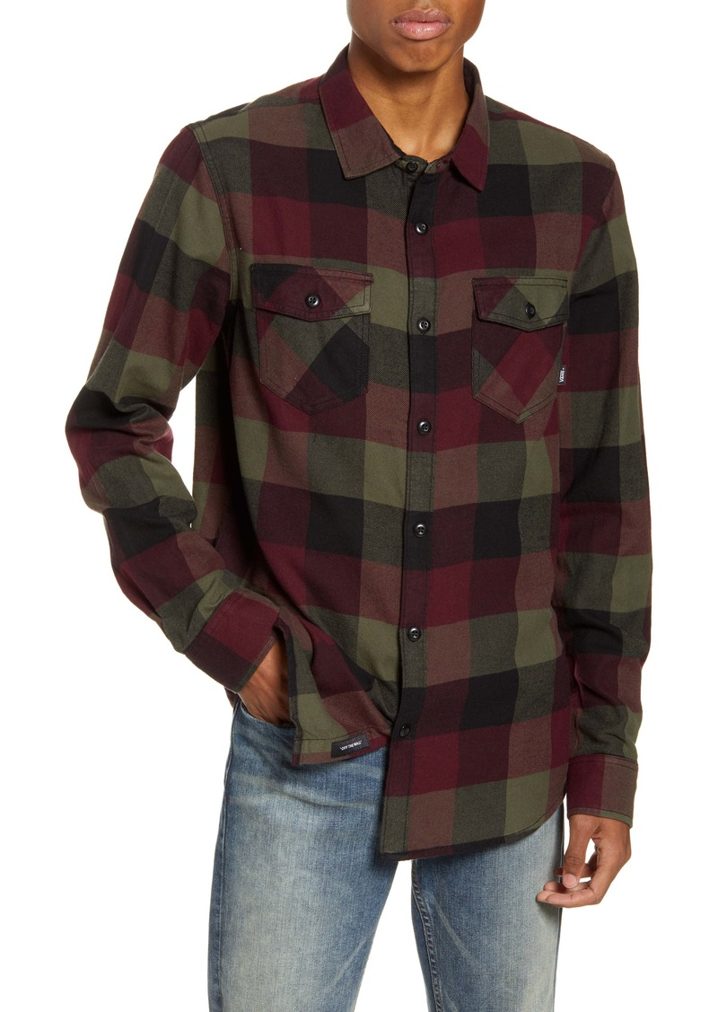 Vans Box Buffalo Check Button-Up Flannel Shirt