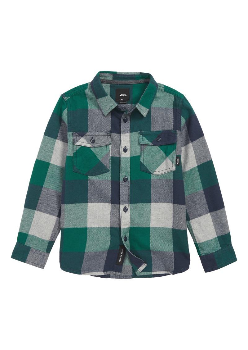 b4632d95b9 SALE! Vans Vans Box Check Flannel Shirt (Toddler Boys   Little Boys)