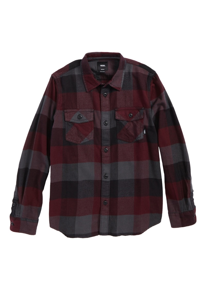 e51dcbefbe74 On Sale today! Vans Vans Box Plaid Flannel Shirt (Big Boys)