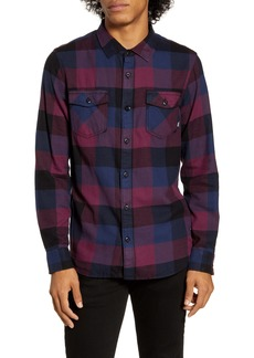 Vans Box Tailored Fit Button-Up Flannel Shirt