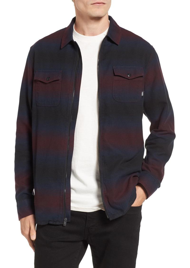 7f5d4438880 Vans Vans Brewster Zip Flannel Shirt