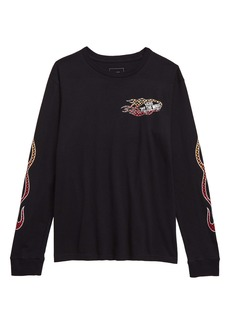 Vans Burnout Graphic Long Sleeve T-Shirt (Big Boys)