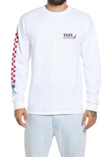 Vans Checkerboard World Long Sleeve Graphic Tee
