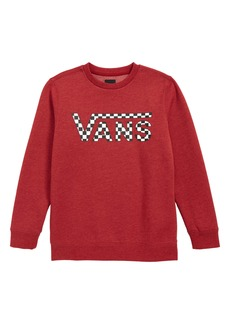 Vans Classic Checkerboard Logo Crewneck Sweatshirt (Big Boys)