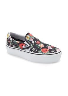 Vans Classic Slip-On Suede Platform Sneaker (Women)