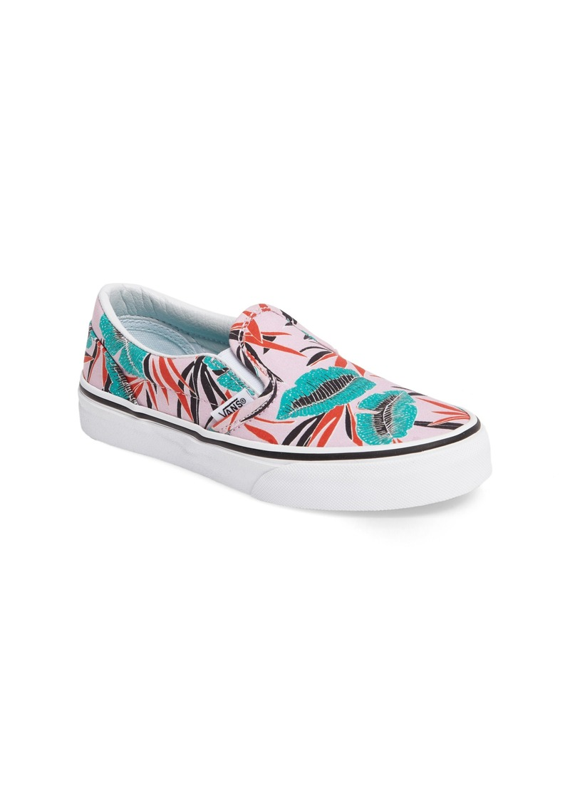 6bdc7bf0abd112 Vans Vans Classic Tropical Leaves Slip-On Sneaker (Toddler