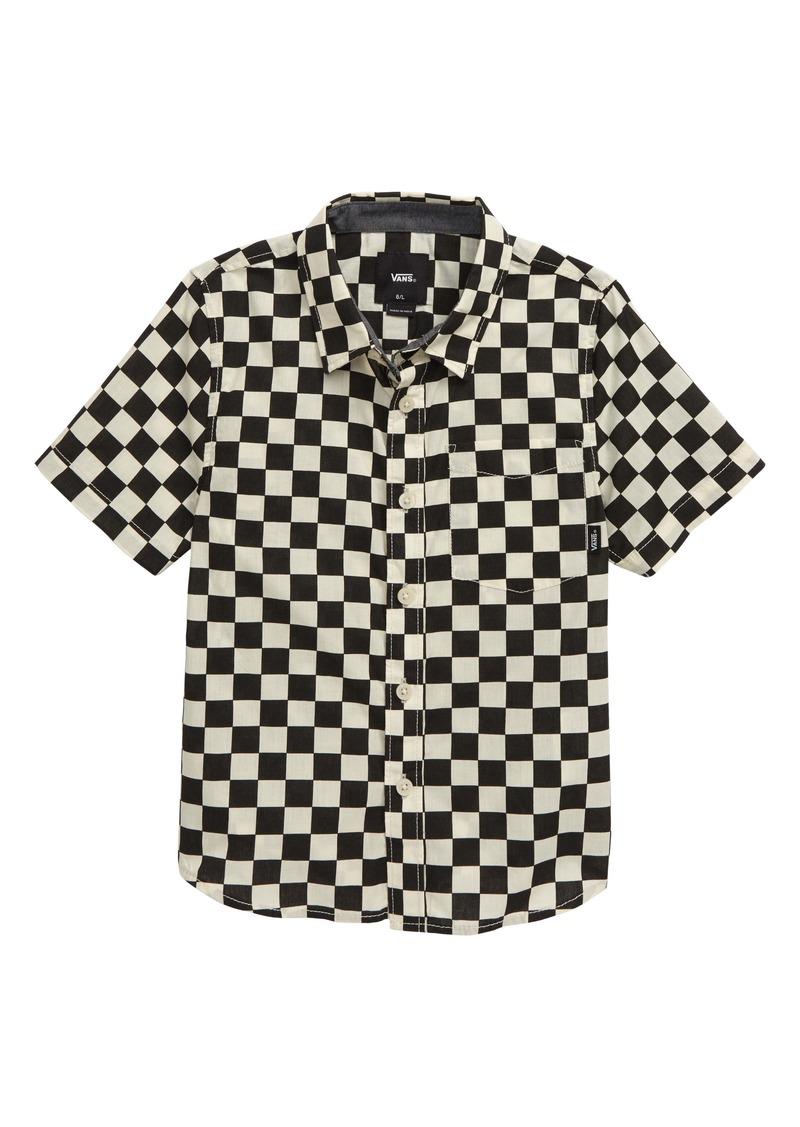 Vans Cypress Checker Button-Up Shirt (Big Boy)