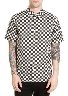 Vans 'Cypress Checker' Regular Fit Short Sleeve Print Woven Shirt