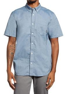Vans Gibbon Slim Fit Chambray Short Sleeve Button-Down Shirt