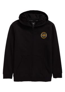 Vans Kids' Authentic Checker Fleece Zip-Up Graphic Hoodie (Big Boy)