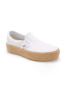 Vans Linen Slip-On Platform Espadrille SF Sneaker (Women)