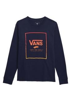 Vans Logo Print Box T-Shirt (Big Boys)