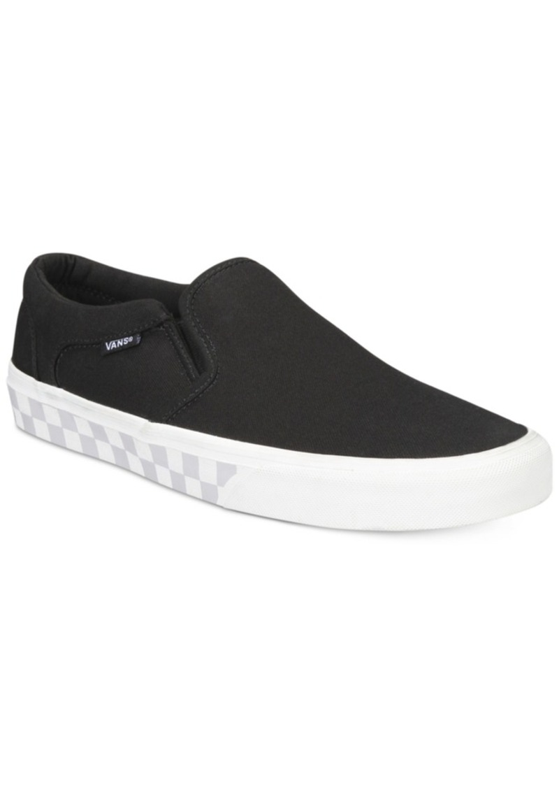 f25def3527b SALE! Vans Vans Men s Asher Checked Sole Slip-On Sneakers Men s Shoes