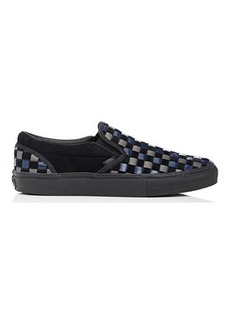 Vans Men's Woven Leather & Suede Slip-On Sneakers