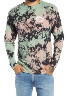 Vans Men's Wall Slide Tie Dye Long Sleeve Graphic Tee