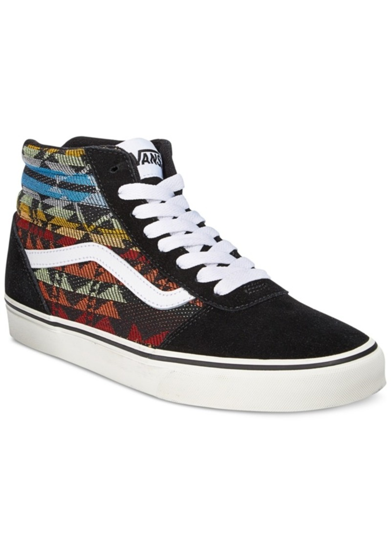 d10c058bdd85f1 Vans Vans Men s Ward Aztec Hi-Top Sneakers Men s Shoes
