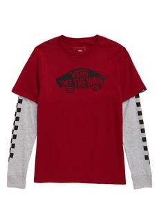 Vans Off the Wall Twofer Layered T-Shirt (Big Boys)