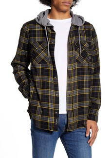Vans Parkway Classic Fit Plaid Flannel Hooded Shirt Jacket