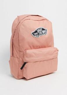 Vans Realm backpack in pink checkerboard