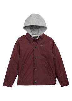 Vans Riley Water Resistant Hooded Jacket (Big Boys)