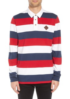 Vans Rugvee Long Sleeve Striped Polo