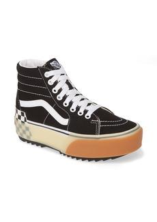 Vans Sk8-Hi Stacked Check Platform High Top Sneaker (Women)