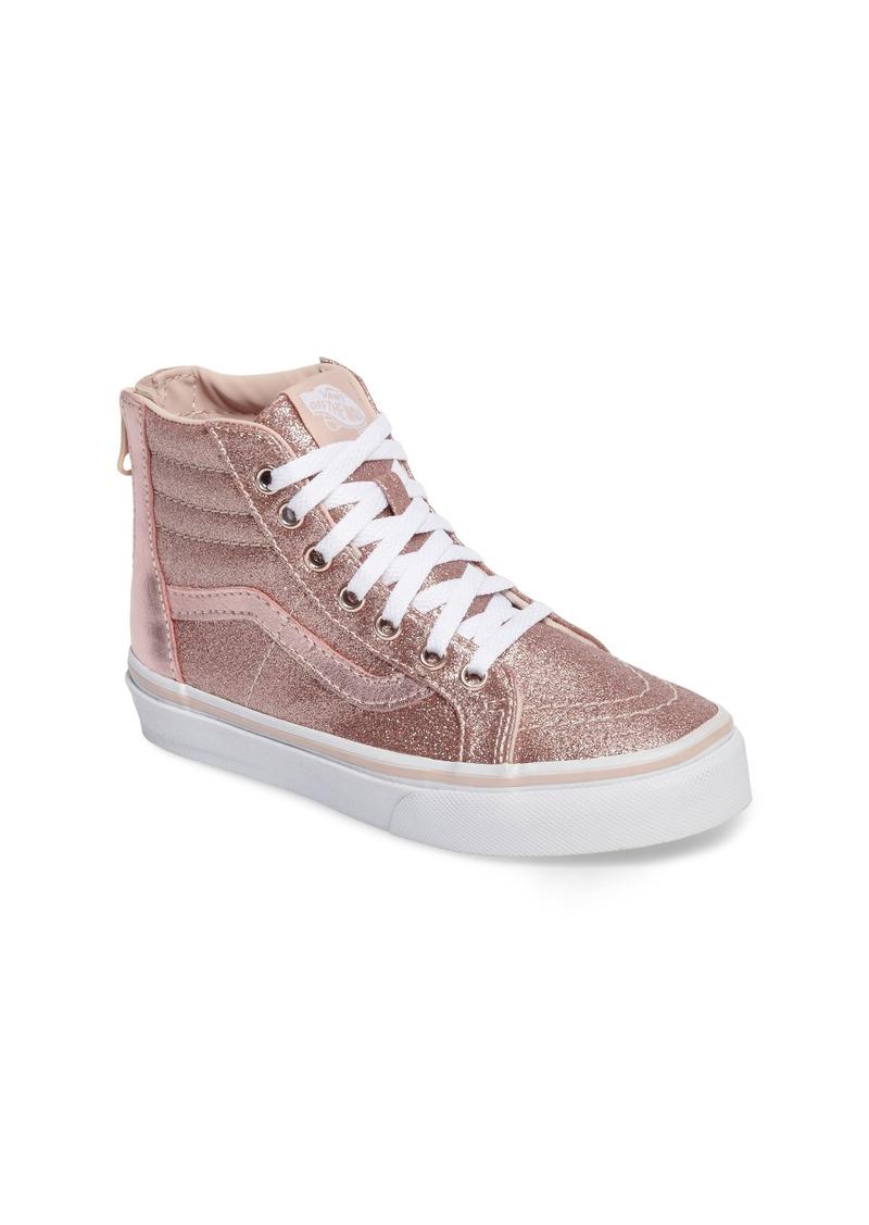 d3eca860b2ac4b Vans Vans SK8-Hi Zip Glitter Sneaker (Baby