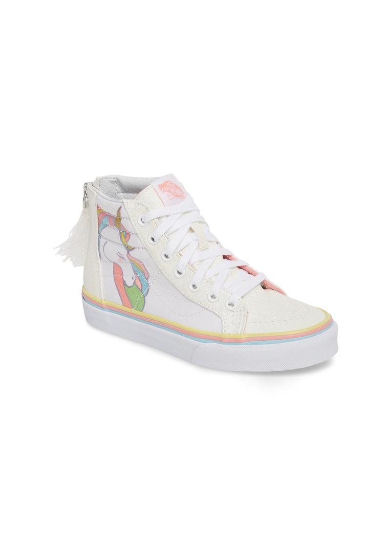 8b1c6dd64e8 Vans Vans Sk8-Hi Zip Unicorn Glitter High Top Sneaker (Baby