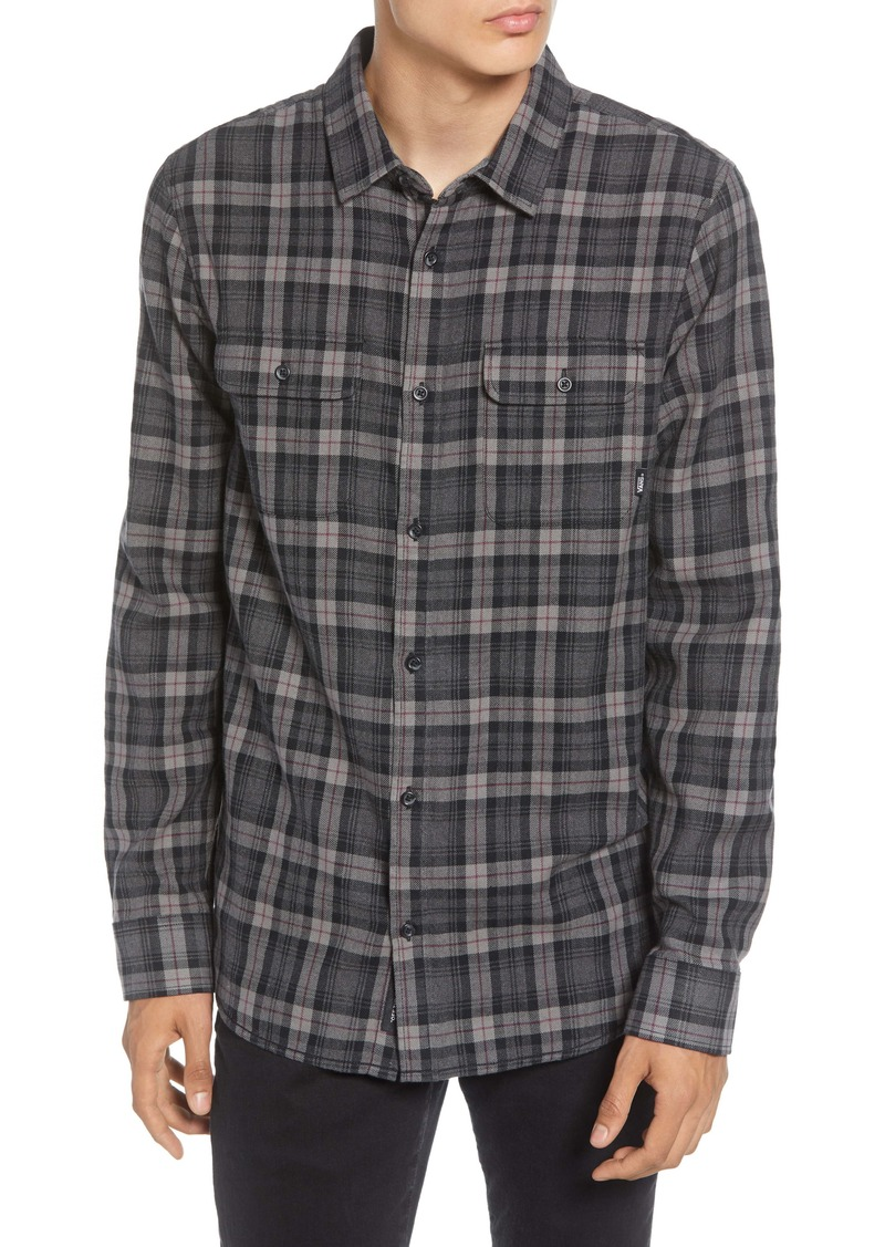 Vans Sycamore Classic Fit Plaid Button-Up Flannel Shirt