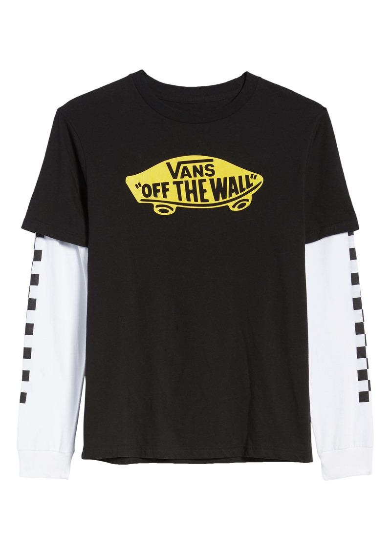 Vans Twofer Layered T-Shirt (Big Boys)