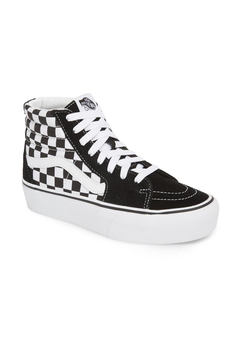 23d719e5aa2e42 Vans Vans UA Sk8-Hi Platform Checkerboard Sneaker (Women)