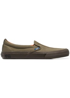 Vans green Vault cotton slip on sneakers