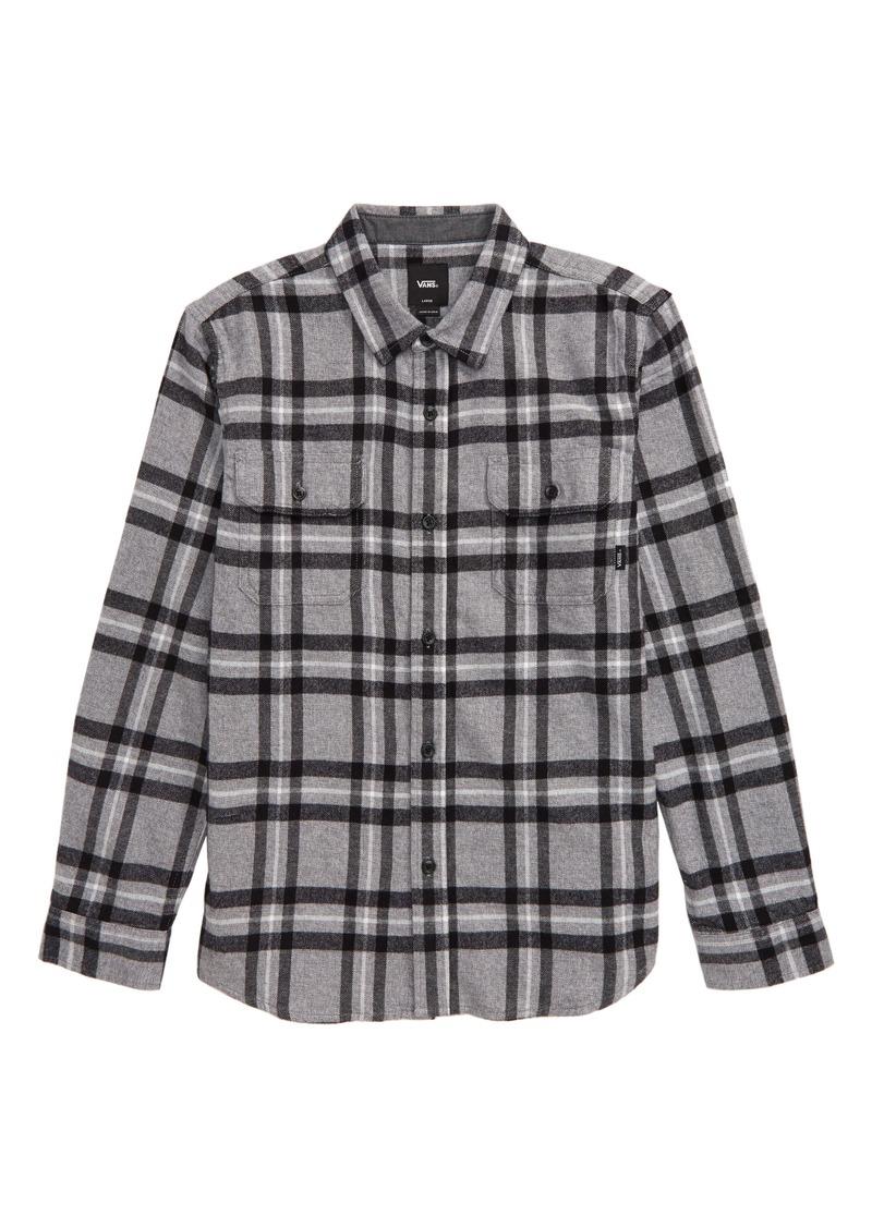 Vans Westminster Plaid Flannel Button-Up Shirt (Big Boys)