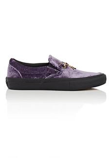 Vans Women's Crushed Velvet Slip-On Sneakers