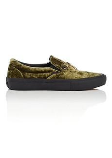 Vans Women's Crushed Velvet Slip-On Sneakers