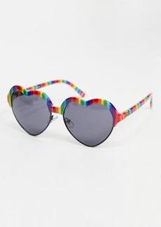 Vans x Flour Shop rainbow sunglasses in multi