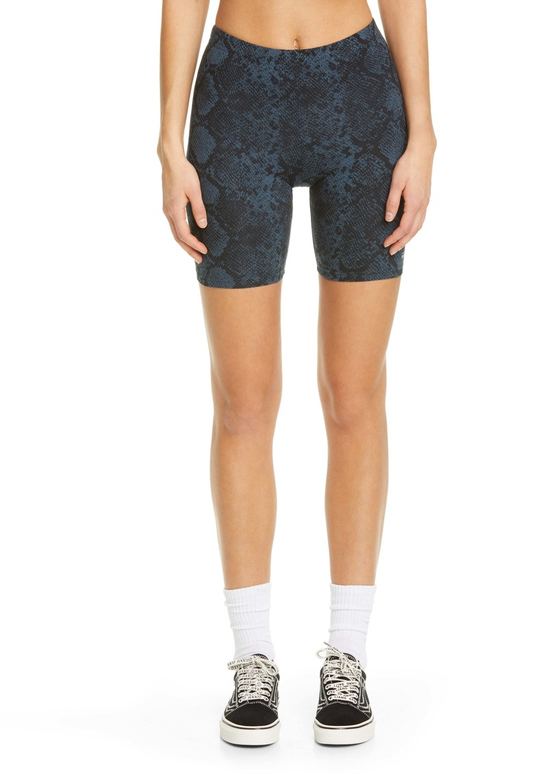 Vans x Sandy Liang Snake Print Stretch Cotton Bike Shorts