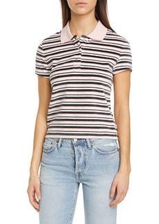 Vans x Sandy Liang Stripe Cotton Blend Polo Shirt