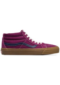 Vans Vault SK8 mid LX purple suede skater shoes