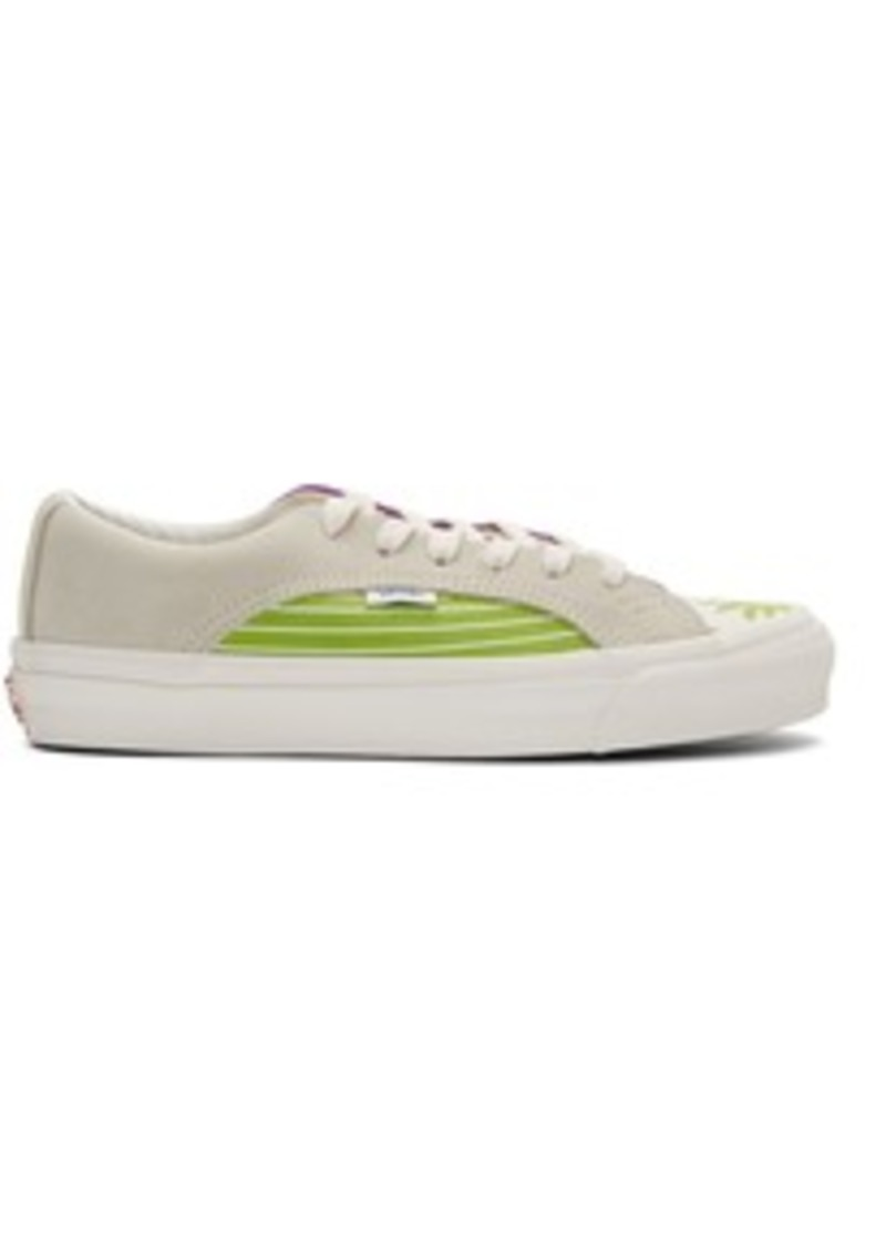 Vans White & Green OG Lampin LX Sneakers